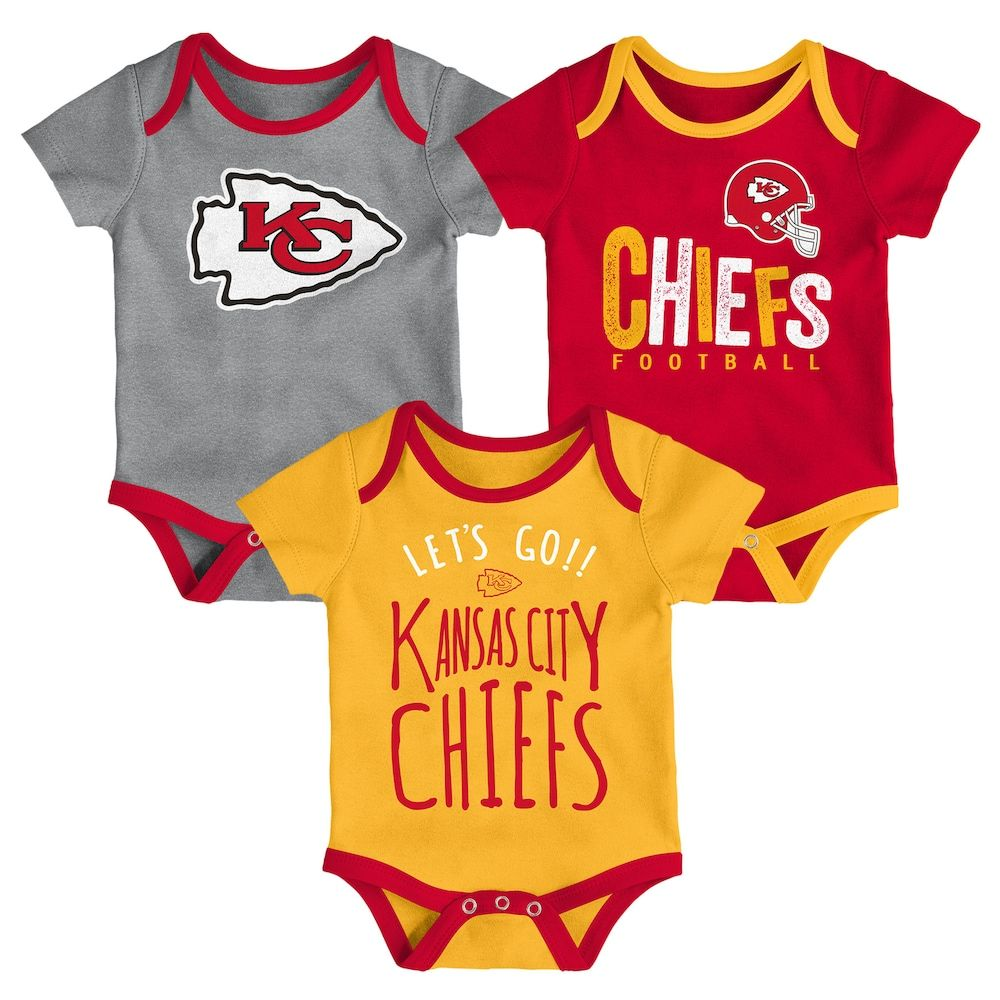 quality design 3d6dd af5fe Baby Kansas City Chiefs Little Tailgater Bodysuit Set ...