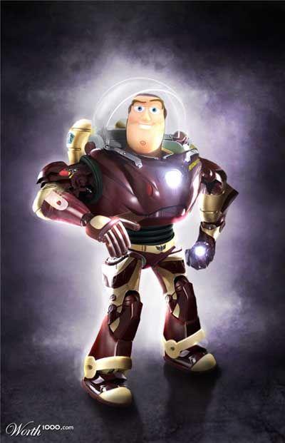 Buzz Lightyear + Iron Man - Animated Movie Magic