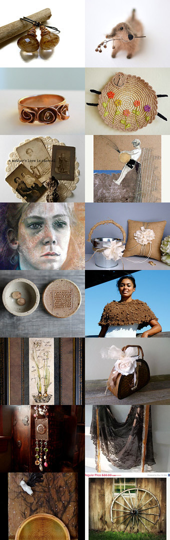 Beautiful bohemian browns II by Charlotte Smith on Etsy--Pinned with TreasuryPin.com