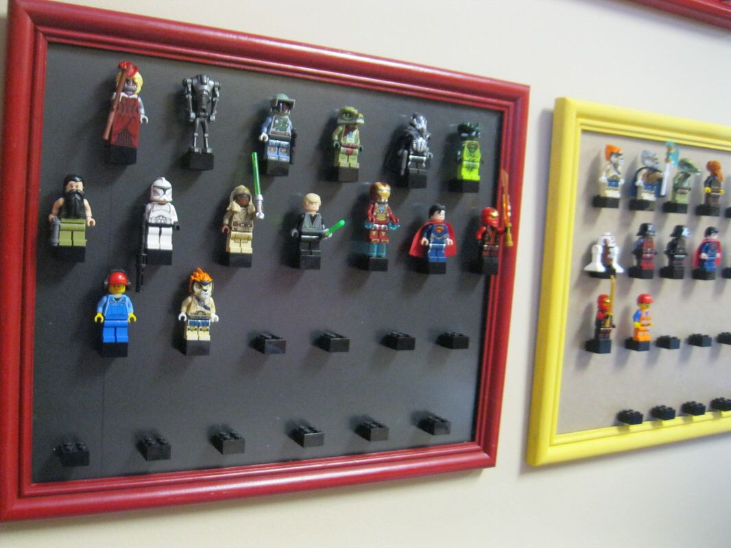 thrifted frames lego storage solution making room 4 one - Boys Room Lego Ideas