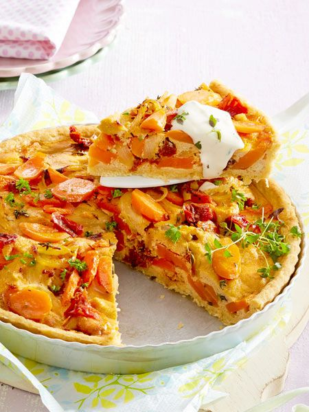 m hren tomaten quiche rezept german food tastes so good pinterest. Black Bedroom Furniture Sets. Home Design Ideas