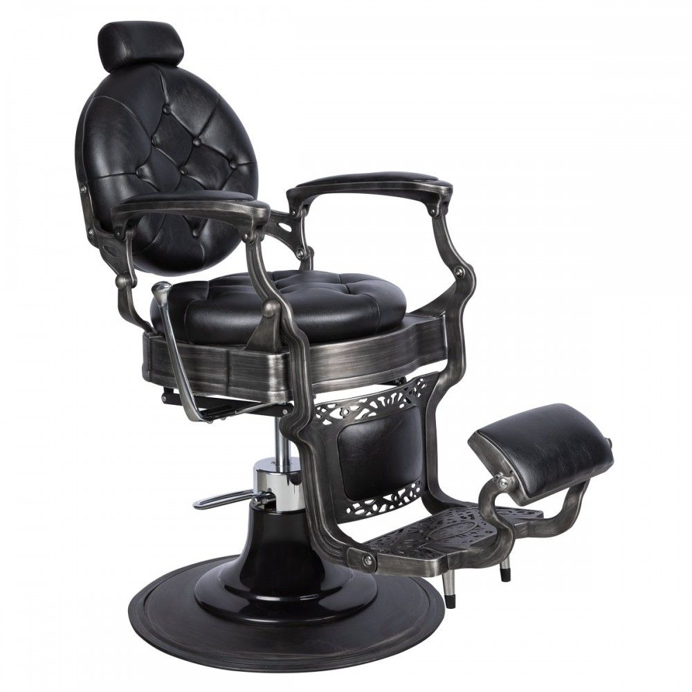 Coppola Barber Chair in Black is part of Barber chair - The Coppola is truly the chair of all chairs  Beautiful, classy, masculine, comfortable    everything you could expect from a classic barber chair and more