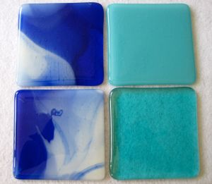 Fused Glass Coaster Experiments Often, glass pulling in on the sides is a sign of firing too hot.  step by step tutorials for small pieces