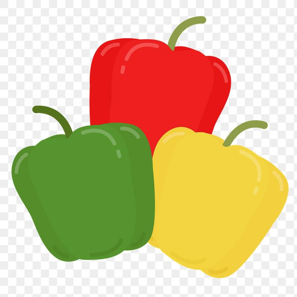 Png Colorful Bell Pepper Food Sticker Clipart Free Image By Rawpixel Com Aum In 2020 Free Clip Art Web Design Resources Vector Free