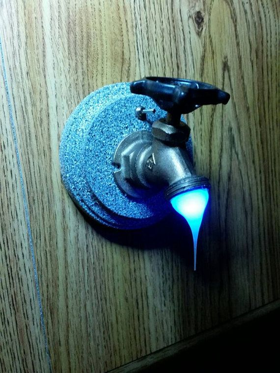 This is a unique (Starlight Blue ) LED Water Faucet Night Light that ...
