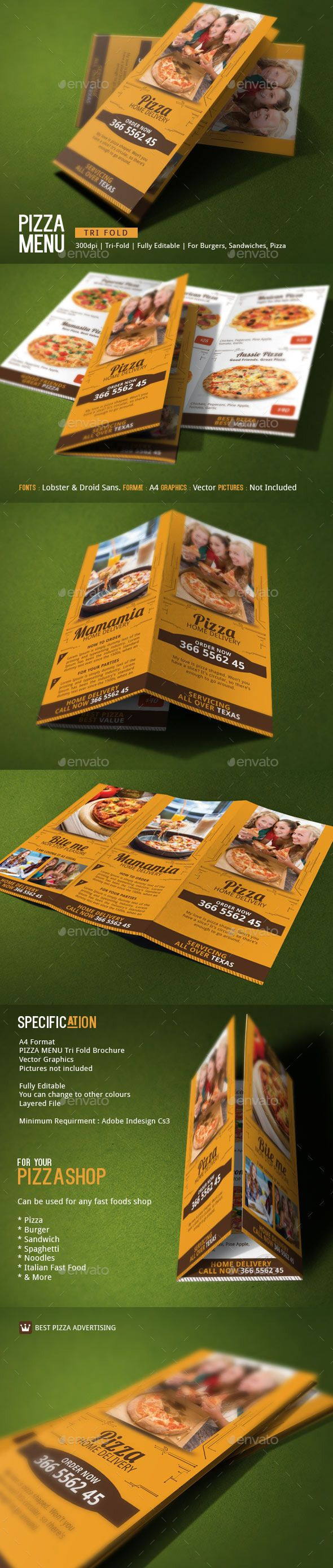 Pizza delivery brochure template brochure template menu pizza delivery brochure template menu templatesbrochure templatefood menu templatetri fold pronofoot35fo Choice Image