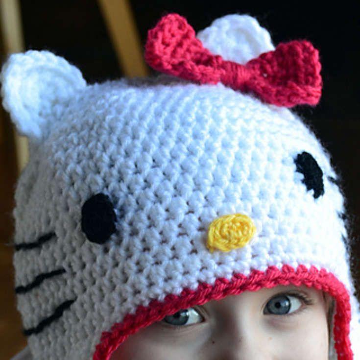 Free Hello Kitty Hat Crochet Pattern Crochet And Knitting