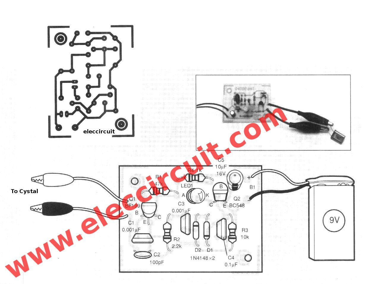 Easy To Build Crystal Tester Circuit With Pcb Layout