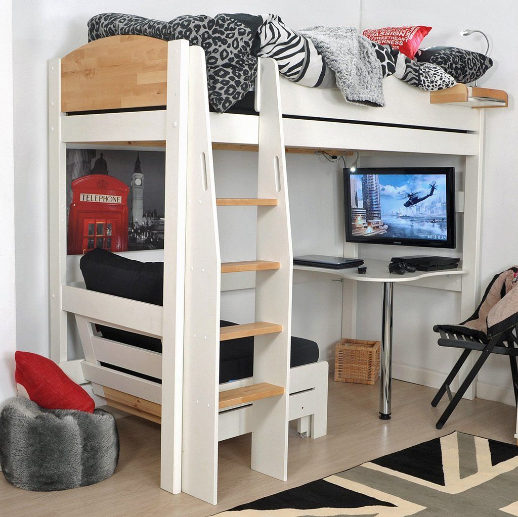 Kids Avenue Urban Highsleeper 1 with Sofabed & Desk