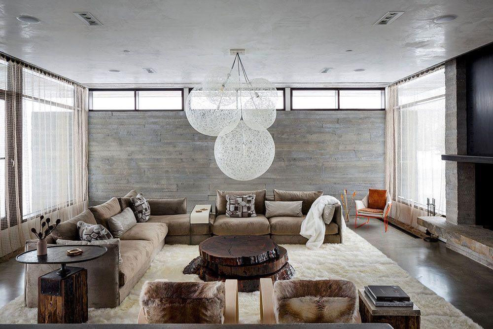 Woonkamer Met Beton : Woonkamer met muur in beton interieur muur
