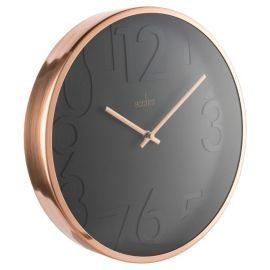 Acctim Copper Black Wall Clock From Our Clocks Range Tesco