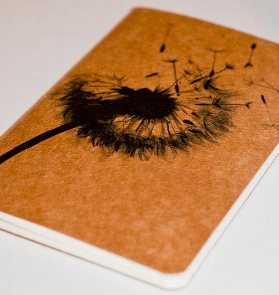 Journal | Dandelion, Moleskine, Diy notebook cover