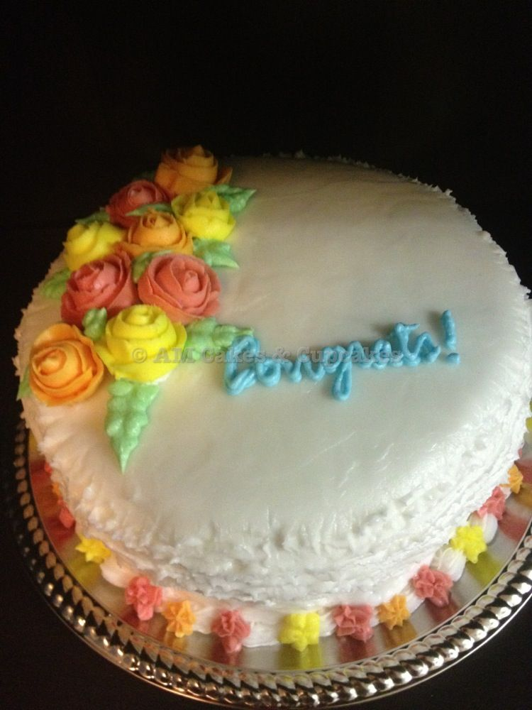 Awesome Wiltoncontest My Final Cake For Course 1 Basic Cake Decorating Funny Birthday Cards Online Amentibdeldamsfinfo