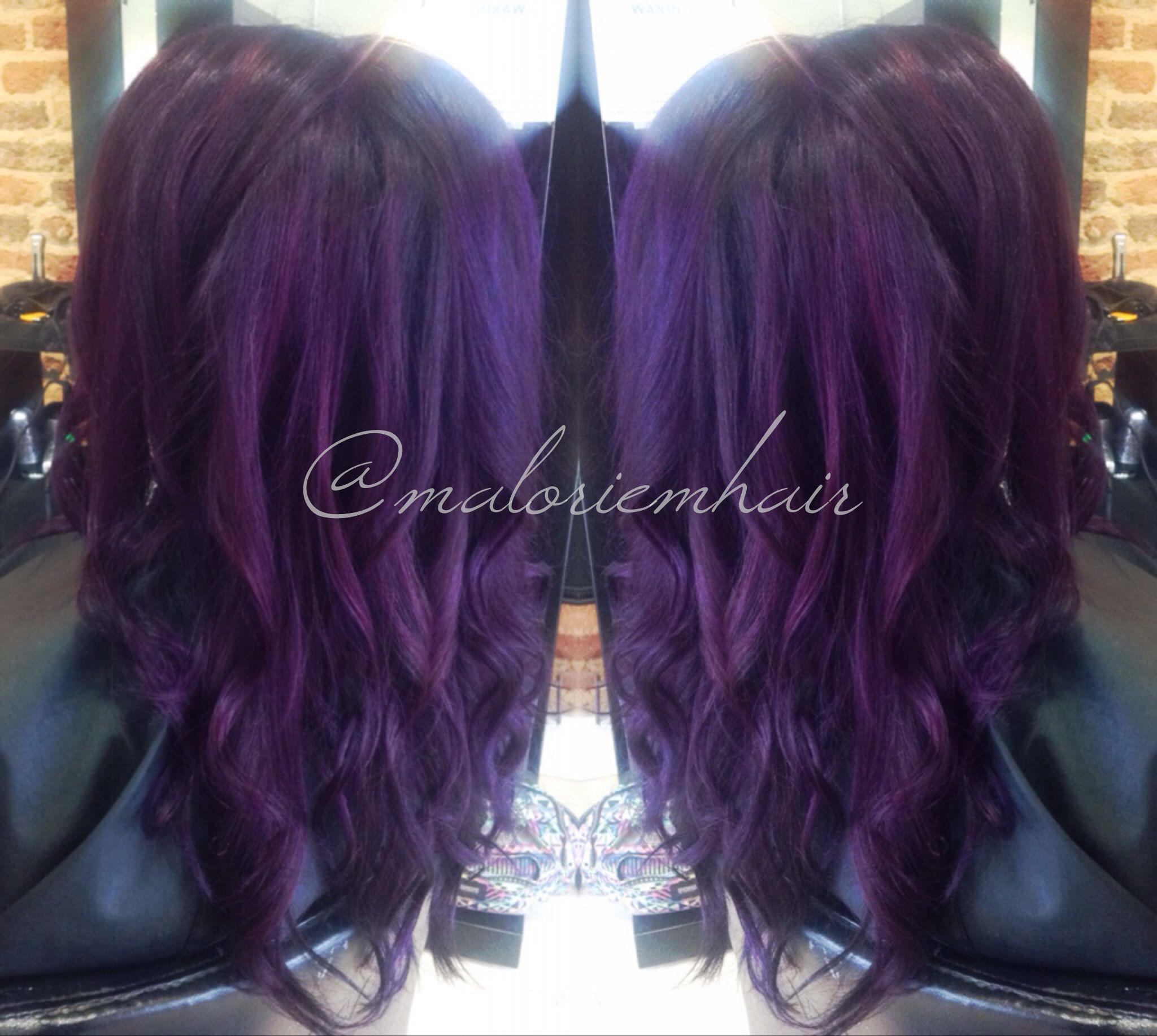 Purple Hair Formula Pravana Vivids Violet Wild Orchid Check Out My Instagram Maloriemhair Hair Inspiration Color Hair Styles Hair Color Images