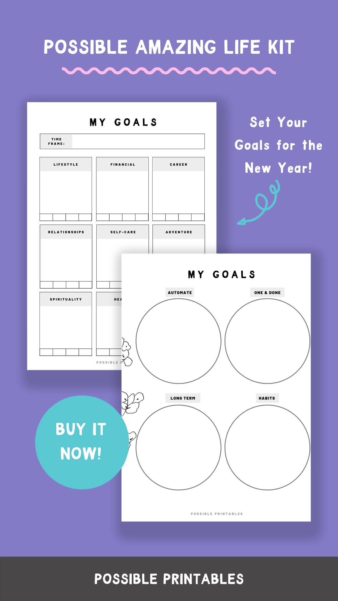 Possible Amazing Life Kit Includes Goals Worksheet