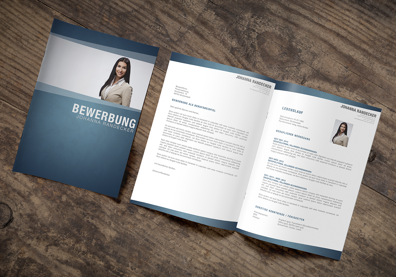 Business Bewerbungsbild Word Vorlage Deckblatt Portrait Bewerbung ...