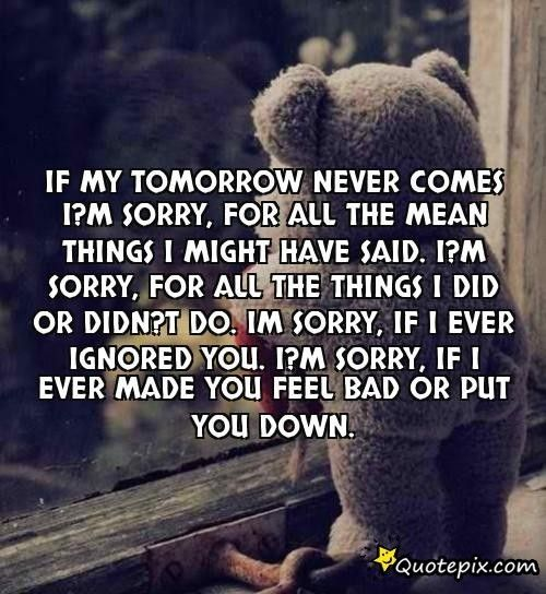 I'm Sorry Quotes - Google Search