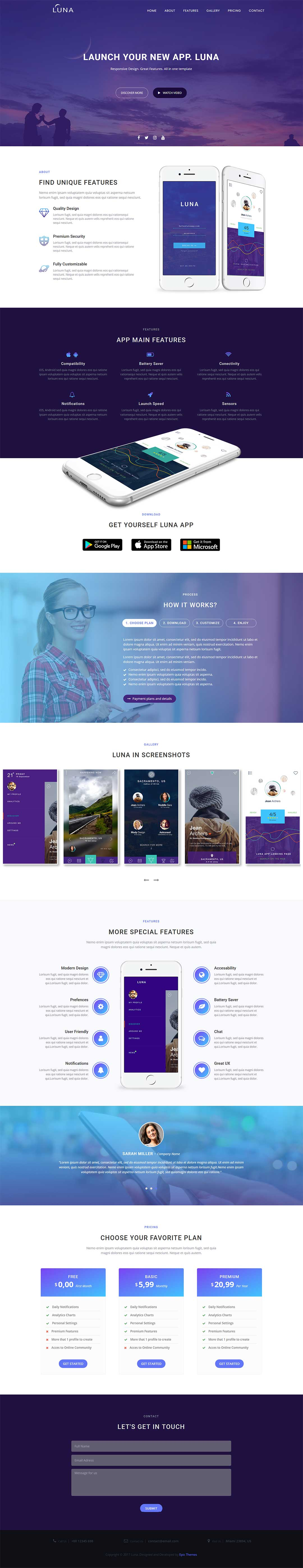 Epic Launch HighConverting Template Is An Optimized And Responsive - High converting landing page templates