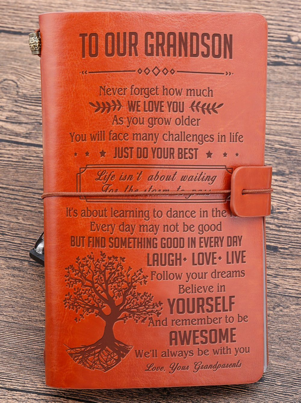 To Our Grandson Never Forget How Much We Love You Vintage Journal In 2020 Great Gifts For Wife Vintage Journal Grandsons