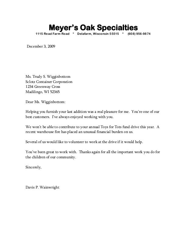meyera oak specialties read farm road delafarm wisconsin sample - example business letter