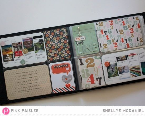 #pocket_pages #pocket_scrapbooking #pink_paislee #switchboard_collection #diy #shellye_mcdaniel