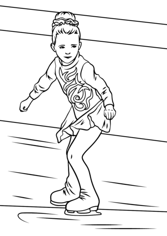 Girl Ice Skater Coloring Page From Ice Skating Category Select From 28148 Printable Crafts Of Ca Sports Coloring Pages Preschool Coloring Pages Coloring Pages