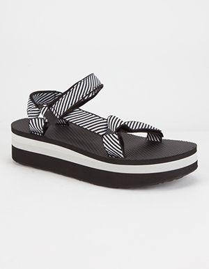 e499675ab08 TEVA Flatform Universal Womens Sandals Black