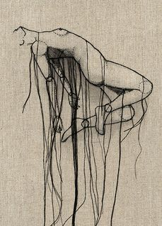 Rise - embroidered art; seen on Thread Sketches by  andrea farina