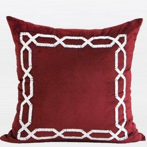 Robot Check Beaded Throw Pillows Beaded Pillow Throw Pillows