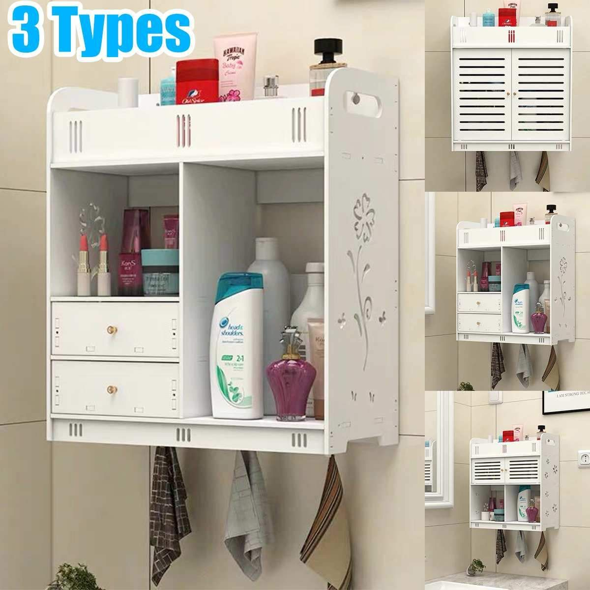 Bathroom Cabinet 38x18x43cm Wall Mounted Bathroom Toilet Furniture