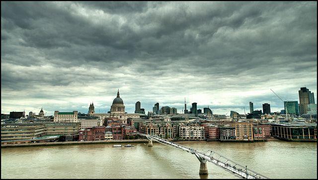 London View From Tate Modern London View Millennium Bridge London Life