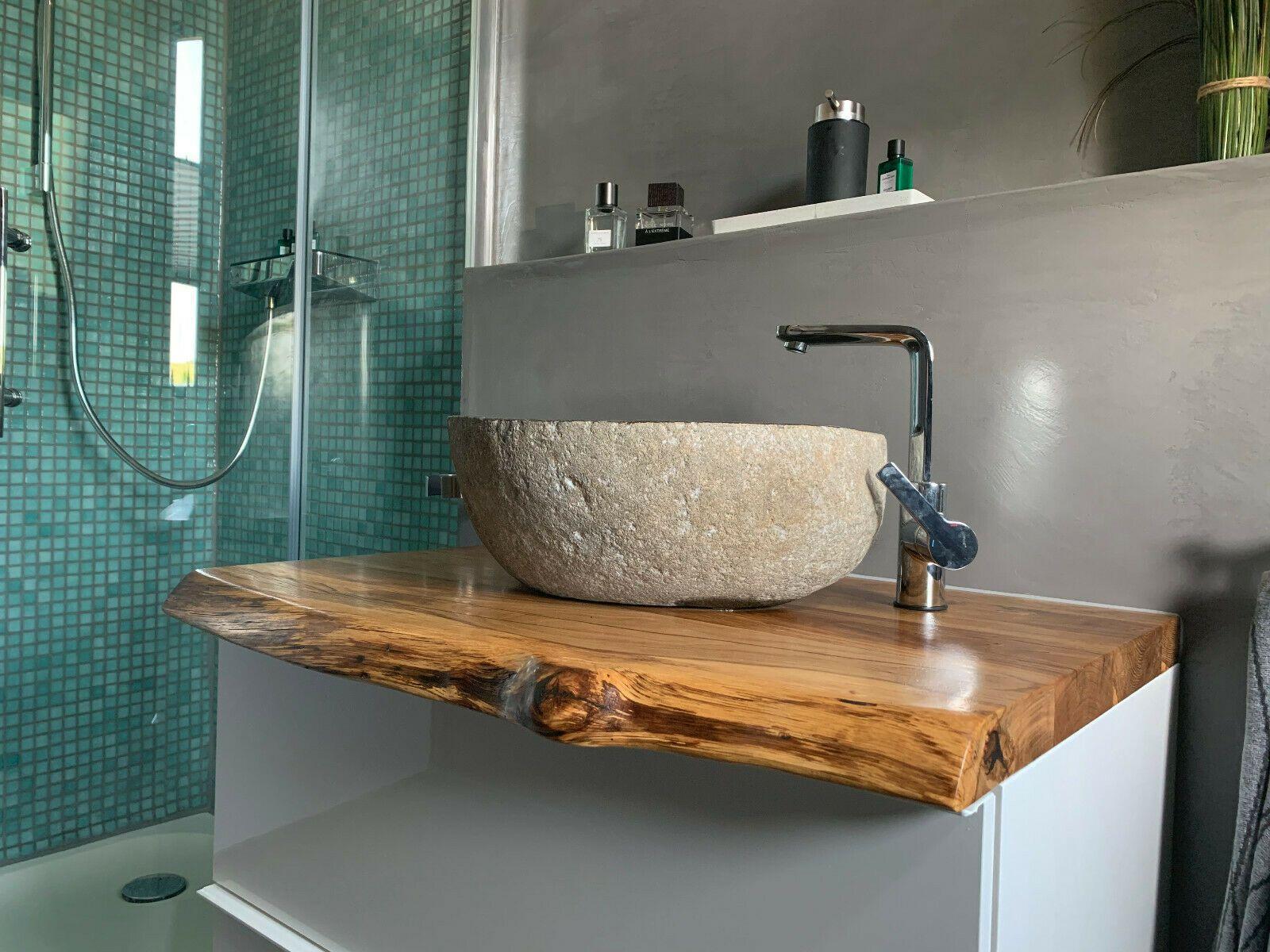 Waschtischplatte Aufsatz Eiche Massivholzplatte Baumkante Waschtisch Regal Ebay Waschtischplatte Holz Waschtischplatte Waschtisch Holz Eiche