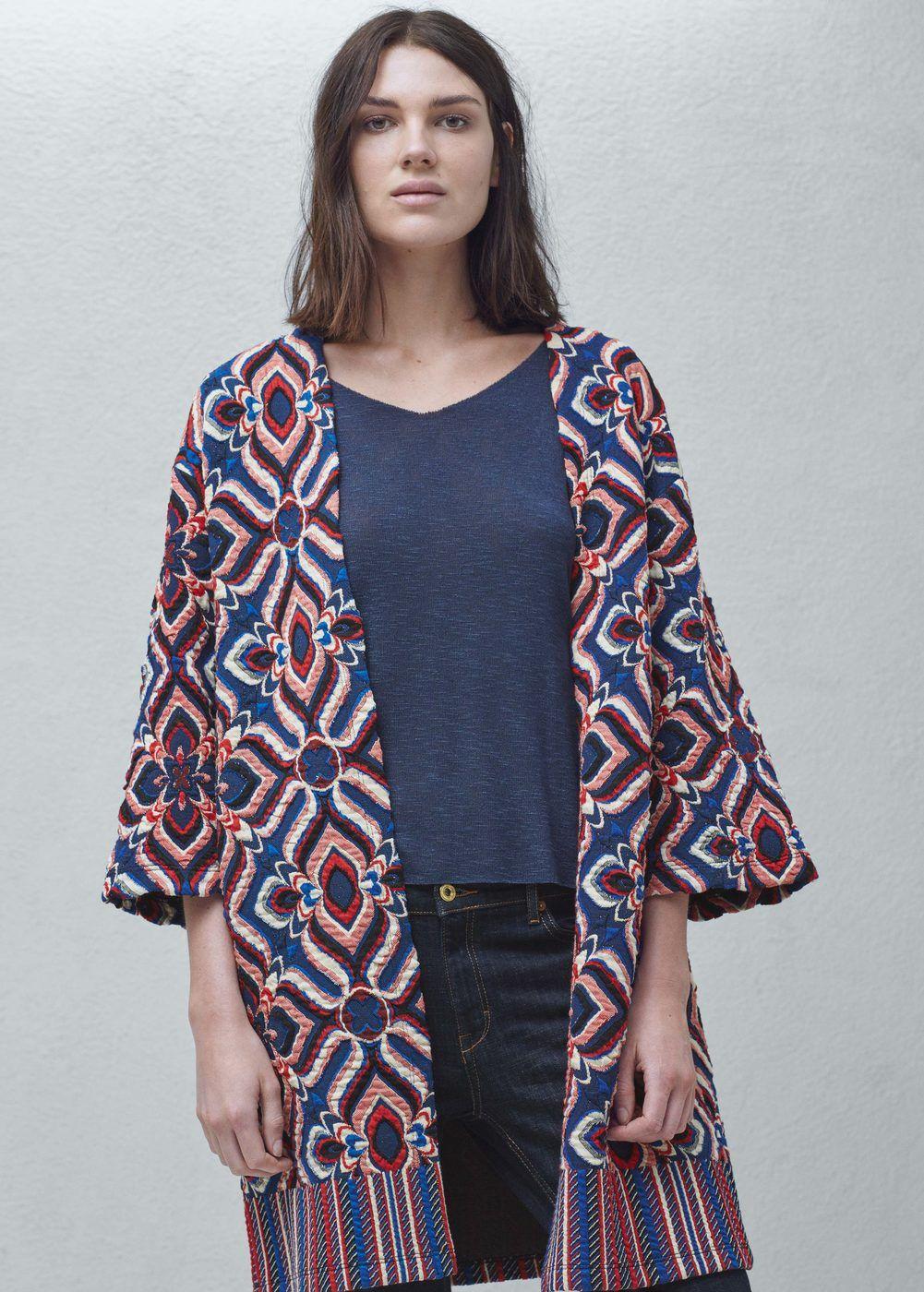 Printed caftan - Jackets for Woman | MANGO Lebanon