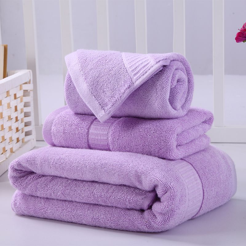 High Quality Purple Bath Towel Sets For Adults Bamboo Fiber Beach