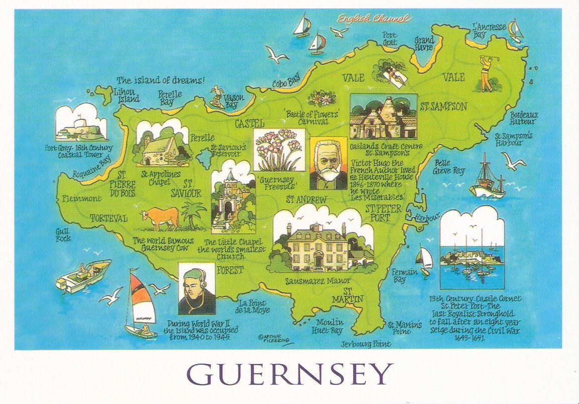 guernsey map Cursos idiomas Pinterest