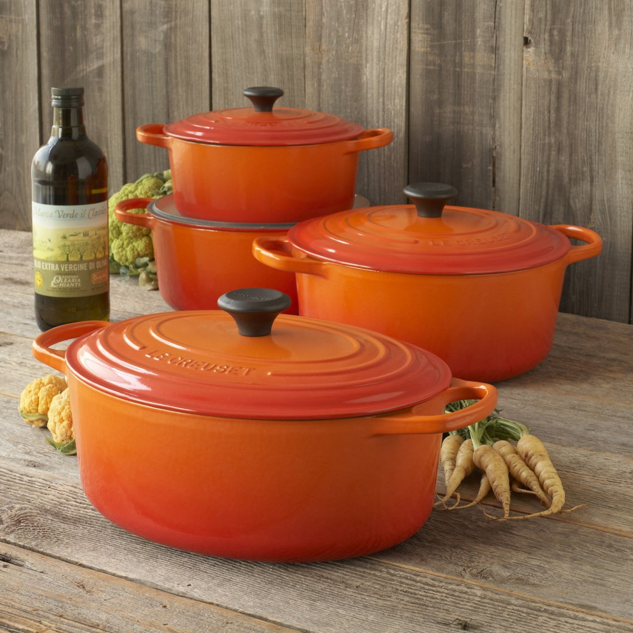 Captivating Le Creuset® Signature Flame Round French Ovens | Sur La Table