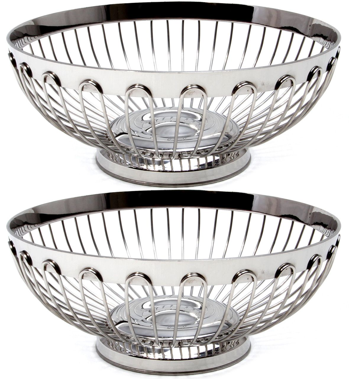 Maro Megastore Stainless Steel Fruit Bowl Basket Stand Holder Wire