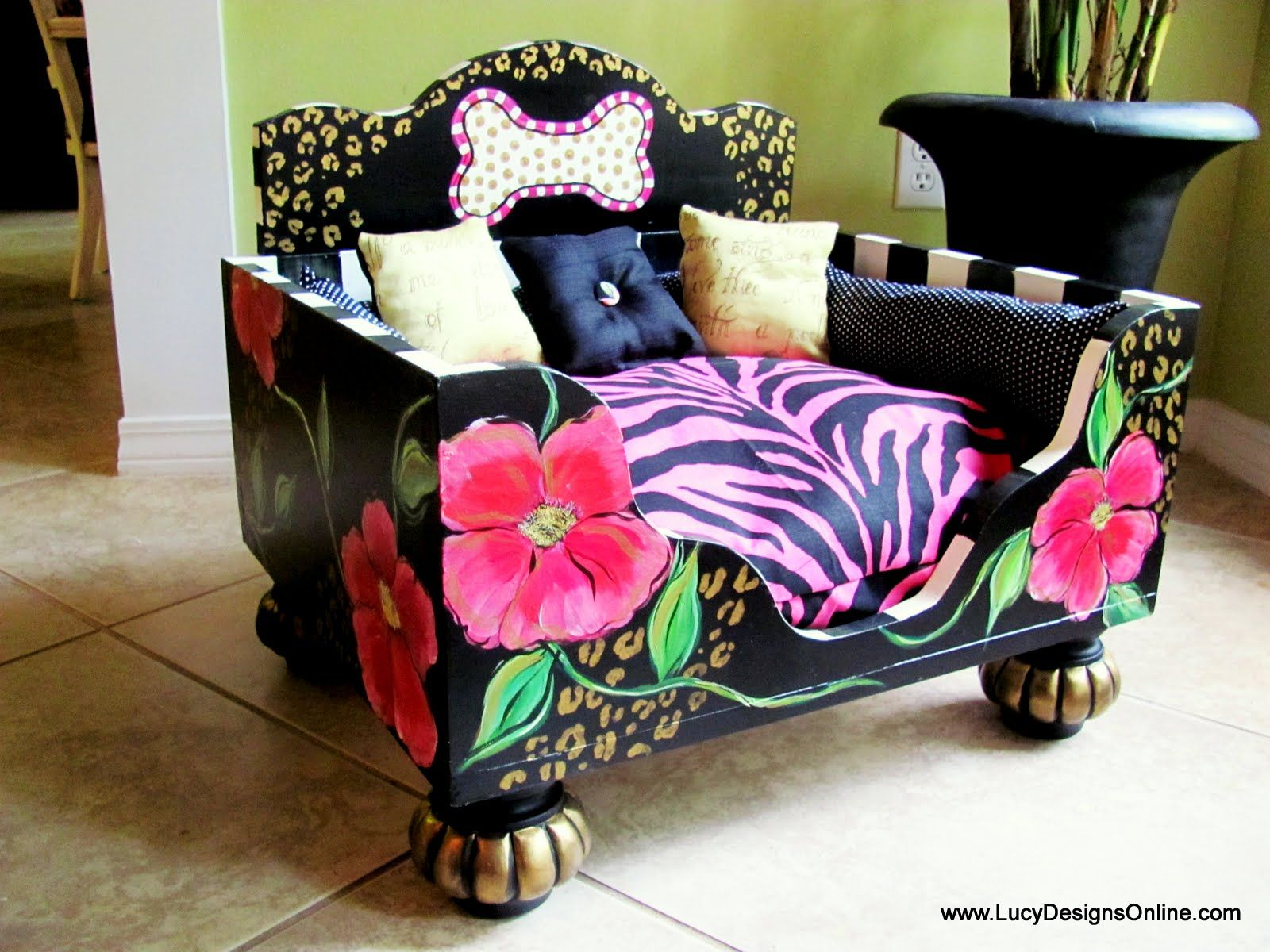 Fit for a Diva! Dog bed, Designer dog beds, Dog bed luxury