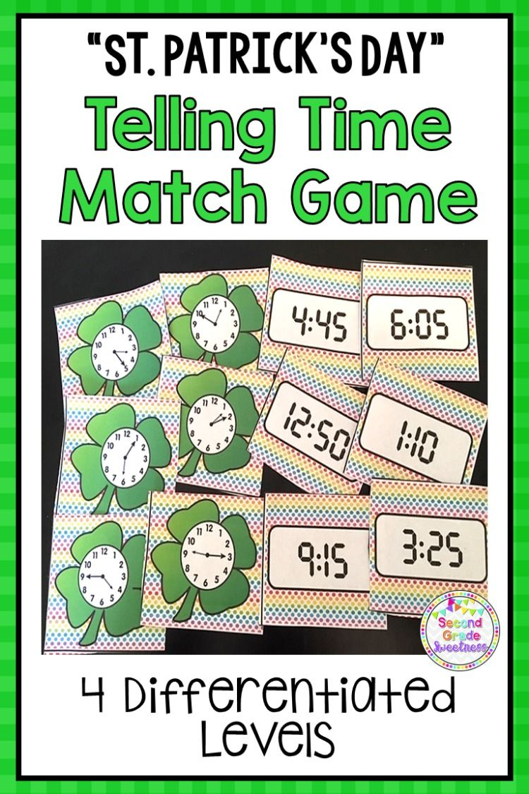 St Patrick S Day Telling Time Activity Math Activities Fun Math Activities Activities For Teens [ 1125 x 750 Pixel ]
