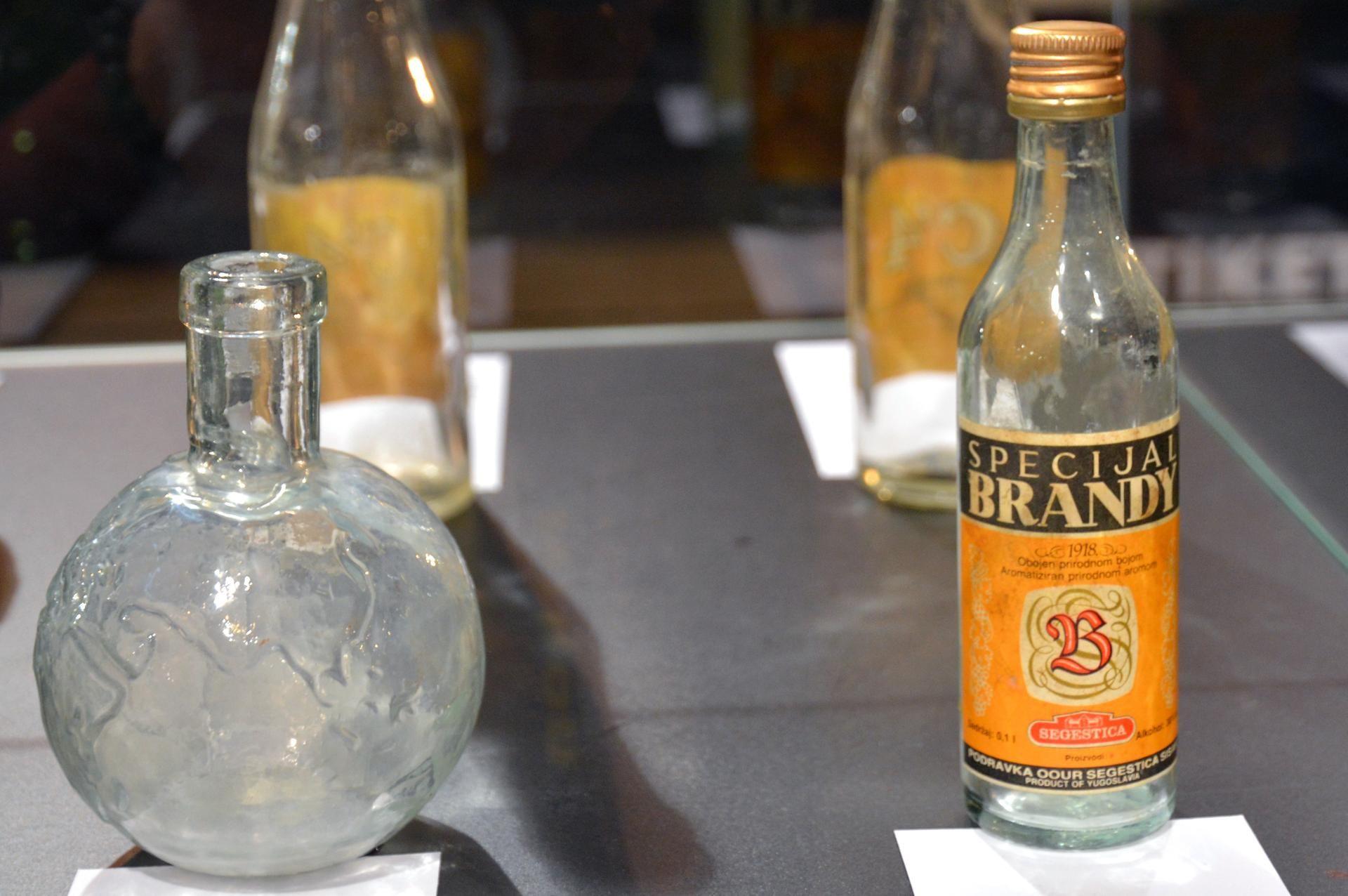 Special Brandy Made By Former Famous Croatian Distillery Segestica Sisak Label Designed By Ozeha Gold Peak Tea Bottle Tea Bottle Vodka Bottle