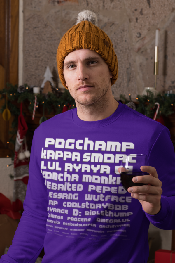 Twitch Text Emotes Long Sleeve T Shirt In 2020 Hemd