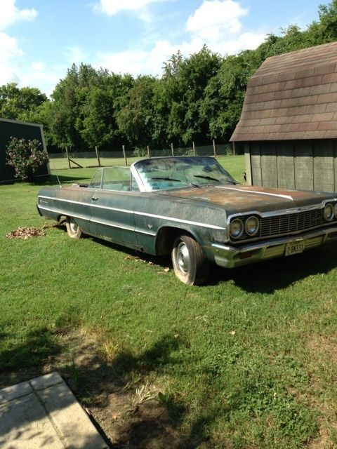 1964 Impala Convertible Chevrolet Abandoned Cars Classic Cars