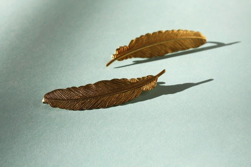 2 Feather bobbies -  feather charm, bobby pins, woodland, fairy, earthy, hair accessories