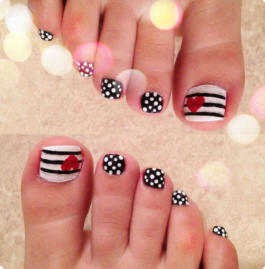 Pin by Ma. Angélica Macías on Uñas | Pinterest | Toe nail designs ...