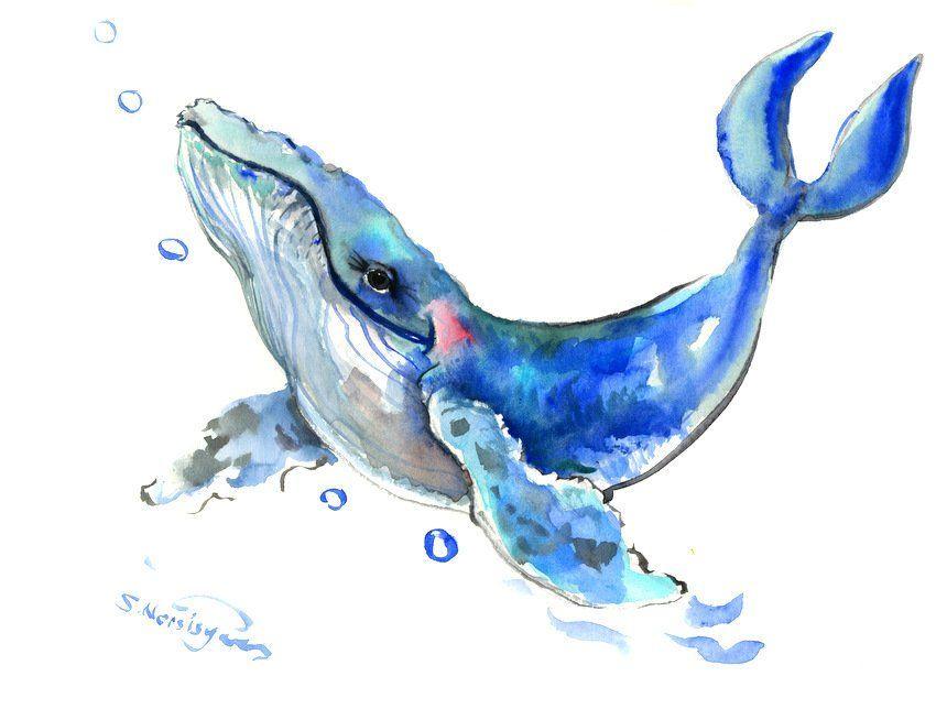 Watercolor Painting Of Sea Watercolour Blue Caribbean Sea