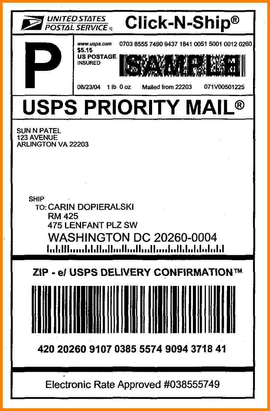 Shipping Label Template Free 6 Usps Shipping Label Template Label Templates Labels Printables Free Templates Labels