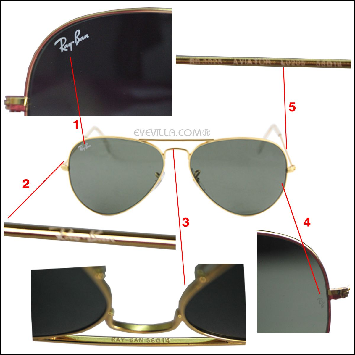 ray ban clubmaster classic rb3016  Spotting fake Ray Ban Sunglasses from original Ray Ban Sunglasses ...