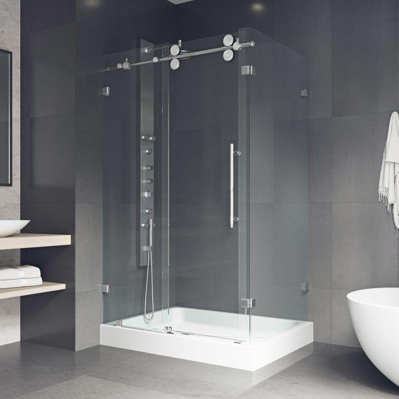Vigo Vg605148wl Frameless Shower Enclosures Shower Enclosure