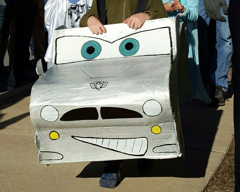 Finn McMissile Halloween costume made from cardboard and paper mache
