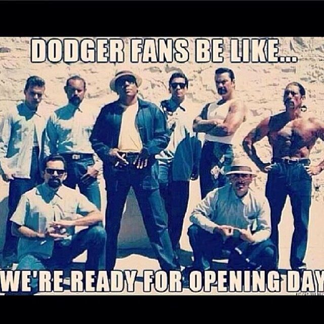 dodgers opening day meme gangsters la dodgers